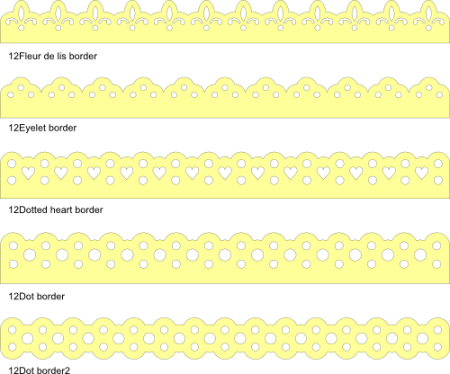 12 inch borders