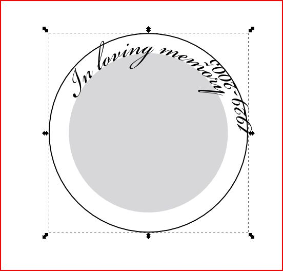 How to write around a circle in inkscape