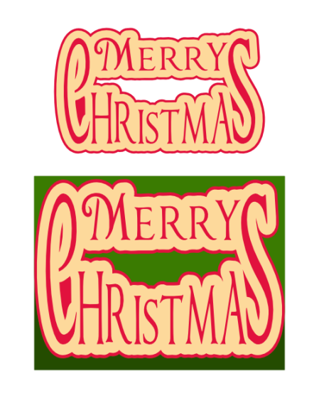 Merry Christmas title and card