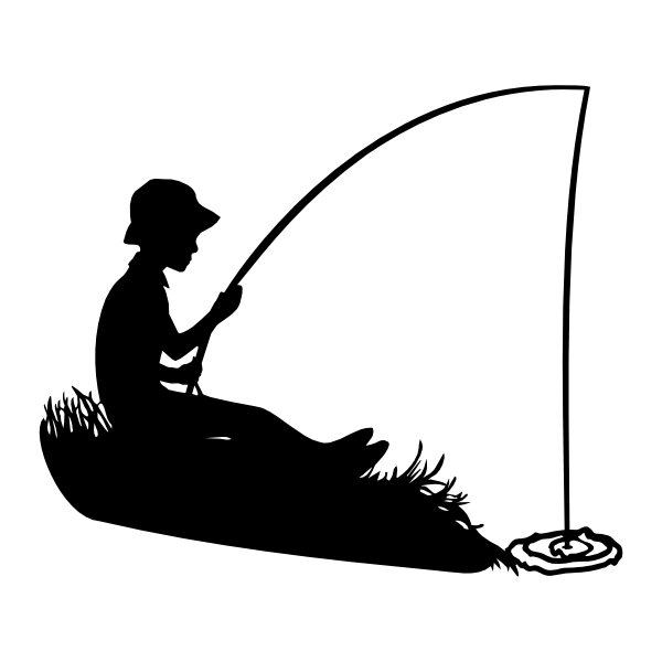 Fisherman silhouette png - photo#4