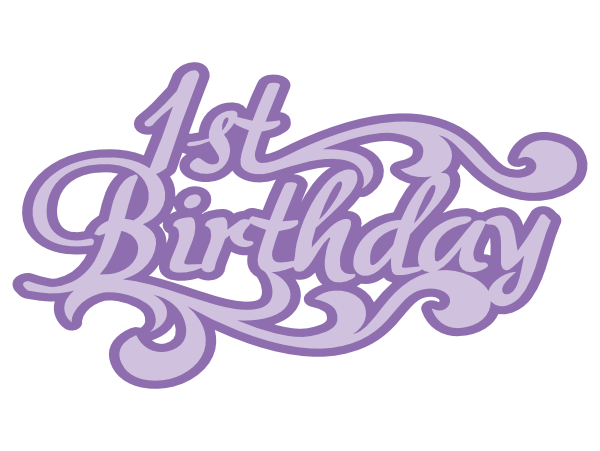1st birthday title svg | Images By Heather M's Blog