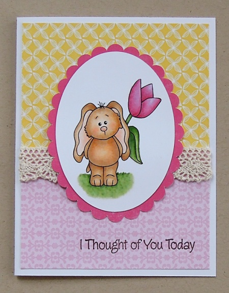 """HeatherM """"I thought of you"""" bunny"""