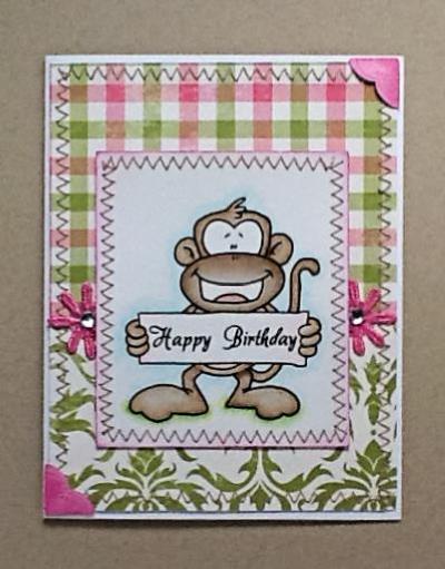 HeatherM Monkey bday sign