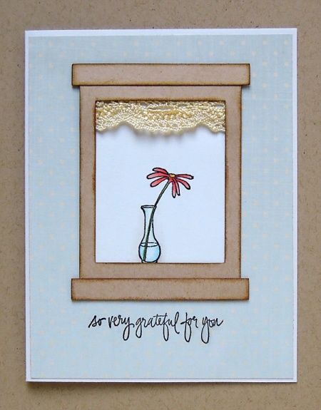 HeatherM simple rectangle window card