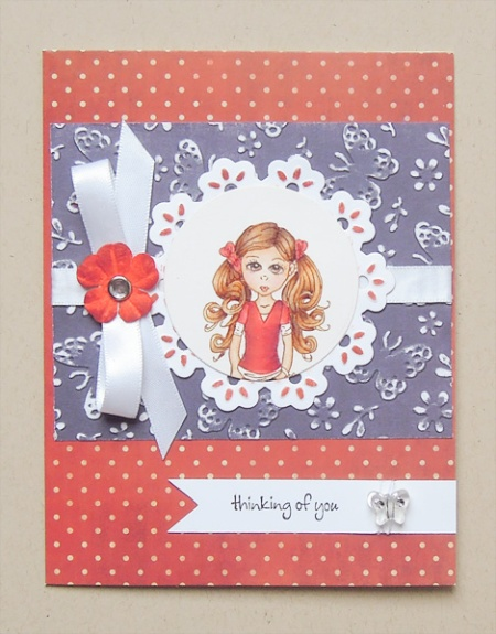 HeatherM card using a Cuddlebug Cutie digi by Anna Stillwell