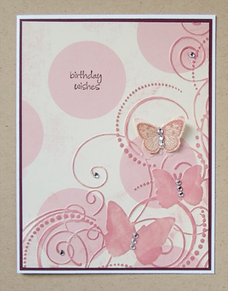 HeatherM butterfly Birthday Wishes card