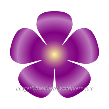 IHM 5 petal petite flower svg and dxf files