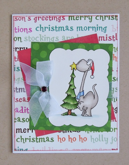 HeatherM card using Doodle Dragon Christmas digi