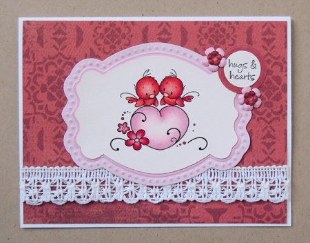 HeatherM using Wee Stamps Love Birds digi