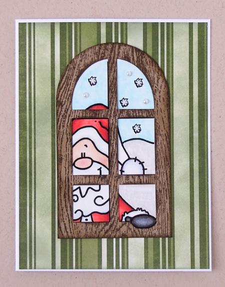 "HeatherM using Bugaboo ""Christmas Window - Santa"" digi"