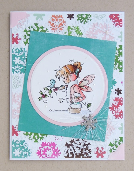 "HeatherM using Wee Stamps ""Winter Fairy"""