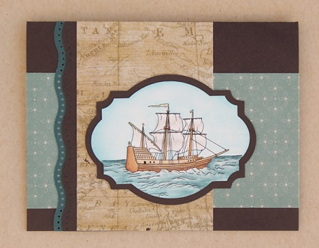 "HeatherM using Digi Darla's ""Ye Olde Sailing Ship"" digi stamp"