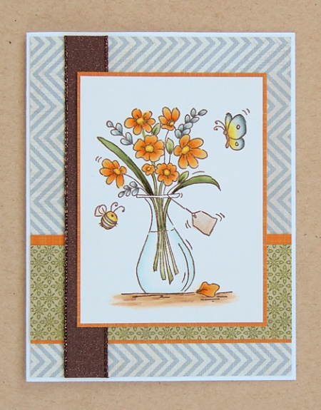 "HeatherM using Lili of the Valley ""If Friends Were Flowers"" stamp"