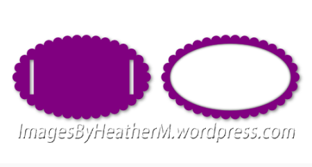 IHM scalloped oval slide svg and dxf files