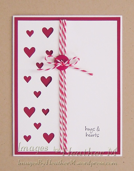 IHM heart card front svg and dxf files