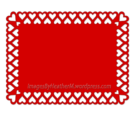 IHM heart edged rectangle svg and dxf files