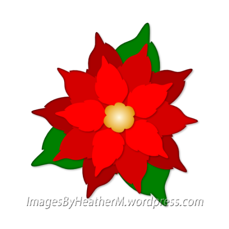 IHM poinsettia svg and dxf files