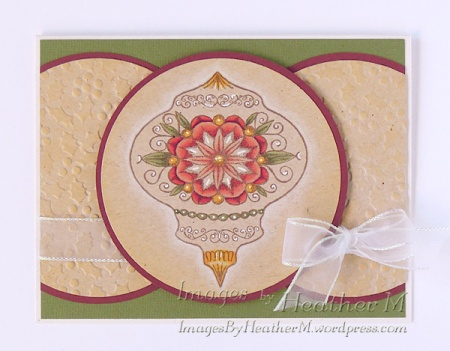 HeatherM using Our Daily Bread ornament stamp