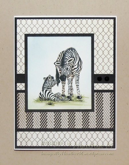 "HeatherM using Delicious Doodles ""zebra and foal"" digi"