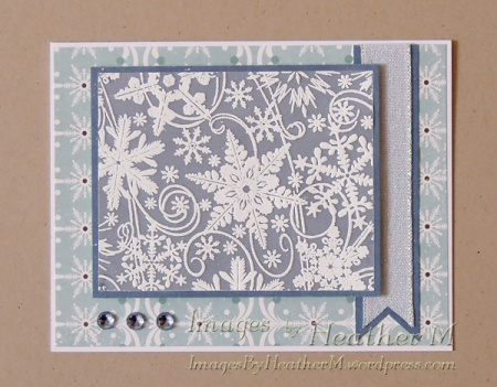 HeatherM using Our Daily Bread Designs snowflake stamp