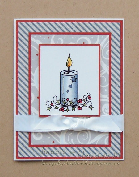 "HeatherM using Digistamps4Joy ""Christmas Candle"" digi"