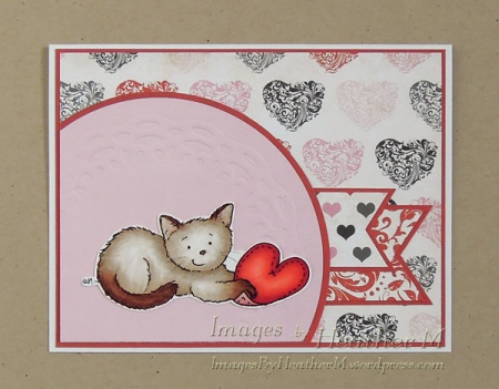"""HeatherM using From The Heart Stamps """"Caught Your Heart Kitten"""" digi"""