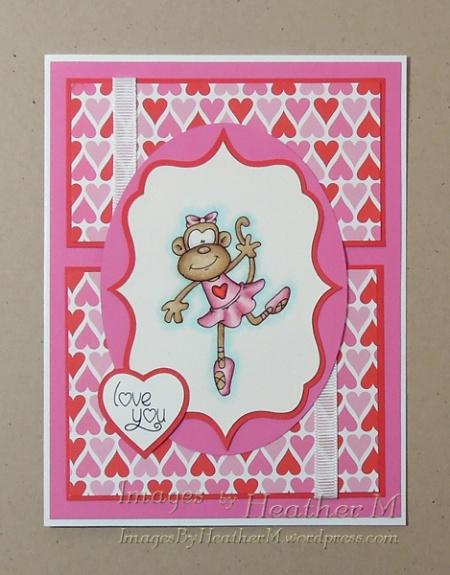 """HeatherM using Doodledragon """"Ballet Monkey 3"""" digi"""