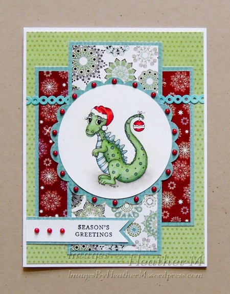 "HeatherM using Digistamps4Joy digi ""My 1st Christmas"""