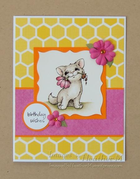 "HeatherM using Motivet ""cat with flower"" digi"