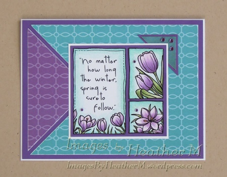 "HeatherM using From The Heart Stamps ""Spring Medley"" digi"