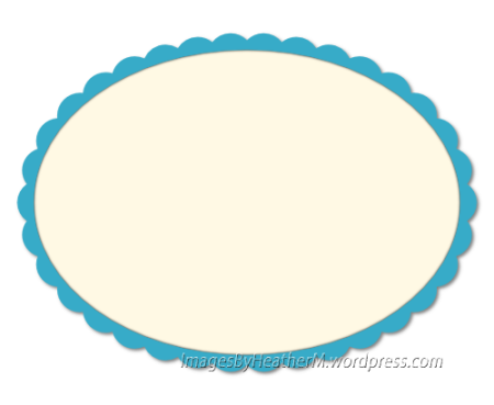 IHM Small scalloped oval svg and dxf files