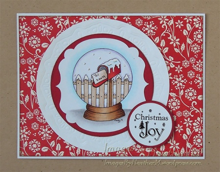 "HeatherM using Digistamps4Joy ""Santa's Letter"" digi"
