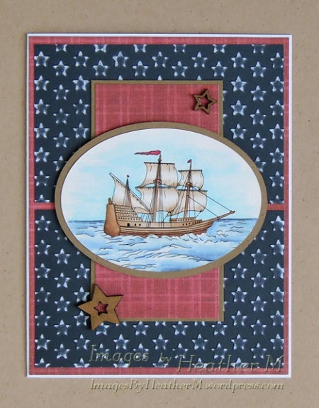 "HeatherM using Digi Darla ""Ye Olde Sailing Ship"" digi"