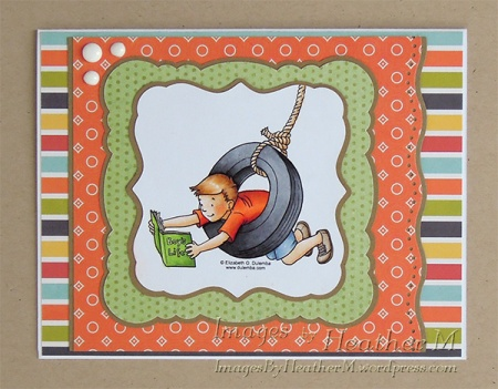 "HeatherM using Elizabeth O. Dulemba ""Tire Swing"" coloring page"
