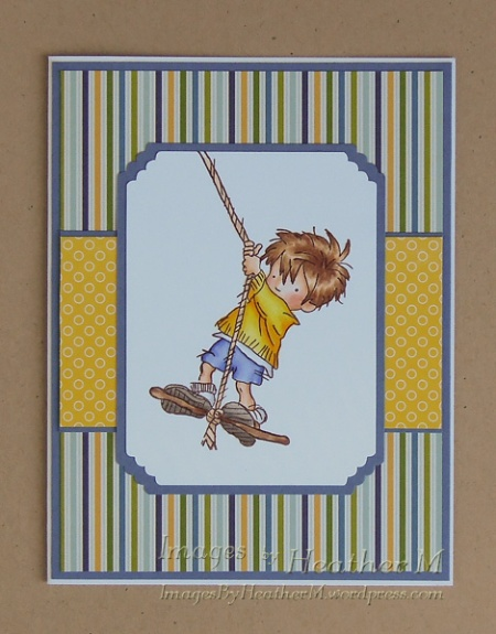 "HeatherM using Lili Of The Valley ""Hanging Around"" rubber stamp"