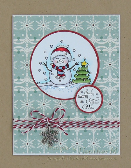 "HeatherM using Crafty Sentiments ""Let it Snow"" digi"