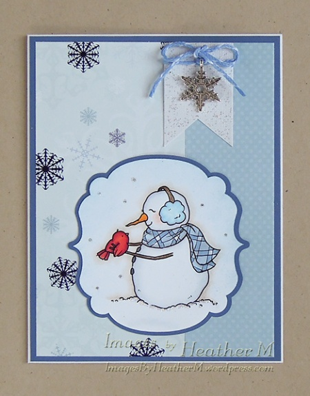 "HeatherM using From The Heart Stamps ""Winter Friends"" digi"