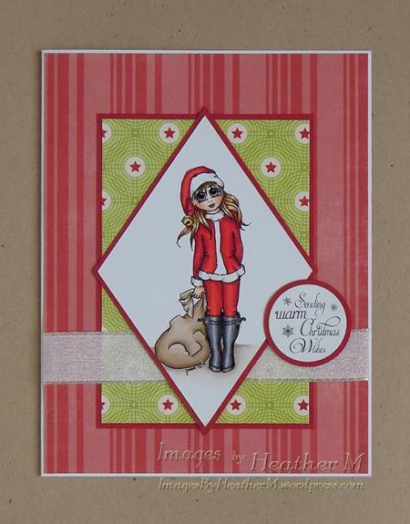 "HeatherM using Digistamps4Joy ""Santa's Helper"" digi"