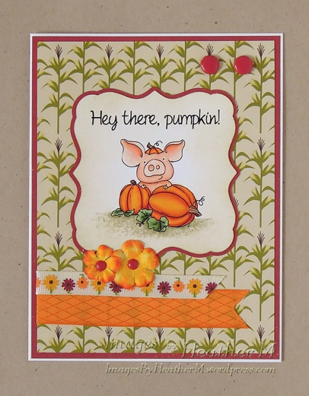 "HeatherM using From The Heart Stamps ""Pumpkin PigWit"" digi"