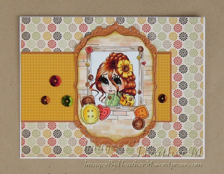 "HeatherM using Lacy Sunshine ""Izzybella Boo Button's Secret Window digi"