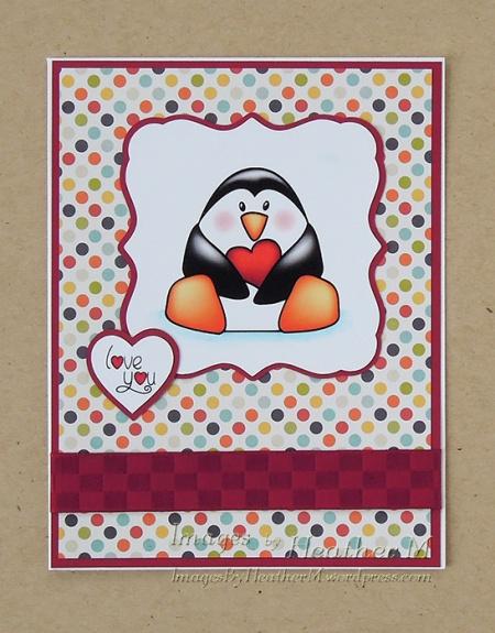 "HeatherM using Doodle Pantry ""With Heart-Penguin"" digi"