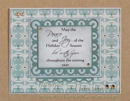 "HeatherM using Digistamps4Joy ""Holiday Sentiment"" digi"