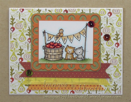 """HeatherM using From The Heart Stamps """"Apple Market"""" digi"""