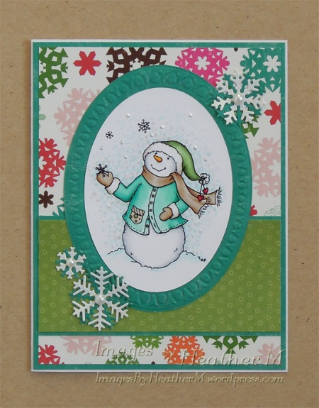 """HeatherM using From The Heart Stamps """"Catching Flakes"""" digi"""