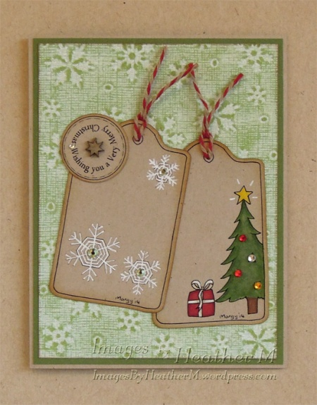 "HeatherM using Digistamps4Joy ""Christmas Tags"" digi"