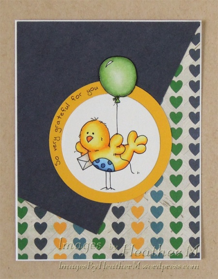 "HeatherM using From The Heart Stamps ""Birdie and Balloon"" digi"