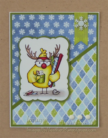 "HeatherM using From The Heart Stamps ""Christmas Spirit Birdbrain"""