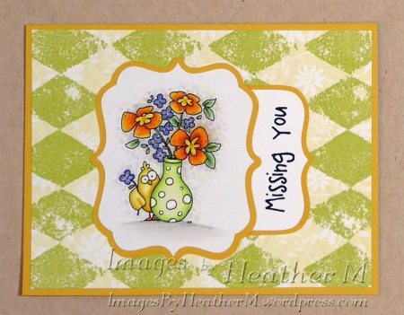 "HeatherM using From The Heart Stamps ""Bouquet Chick"" digi"