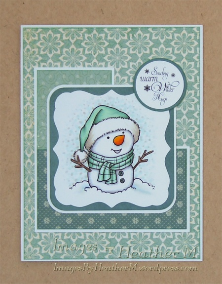 "HeatherM using From TheHeart Stamps ""Little Snowman"" digi"