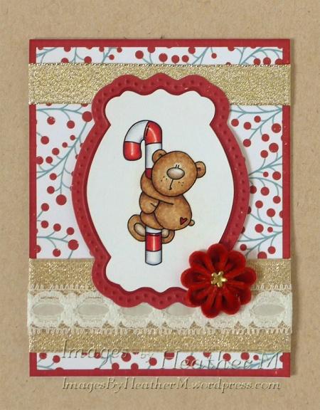 "HeatherM using Bugaboo ""Candy Cane Bear - hang on"" digi"